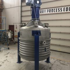 1,400 Litre Oliver & Batlle 304 Stainless Steel Vertical Reactor, 1300mm Dia x 1100mm Straight Side, Used Refurbished