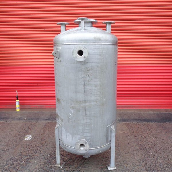 500 Litre Mcmillan Stainless Steel Vertical Storage Vessel, 700mm Dia x 1150mm Straight Side
