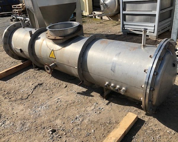 50.4 Sq. M. APV Horizontal Stainless Steel Shell and Tube Heat Exchanger