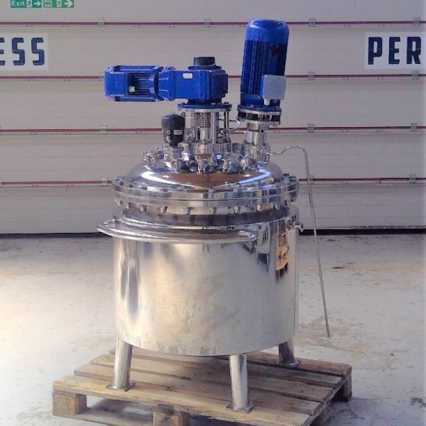 200 Litre Nicro Stainless Steel Vertical Reactor Vessel