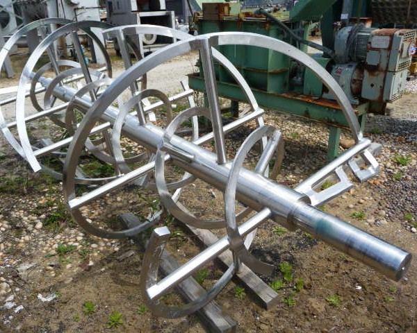 Stainless Steel Double Ribbon 150 Cubic Foot Mixer