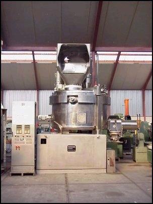 5000 Liter Thyssen Henschel Model HU/G 5000 Stainless Steel Universal Mixer Granulator