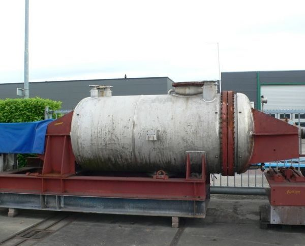 Haagen & Rinau Model Hrt-4000 4000 Litre Working Capacity 316TI Stainless Steel Vacuum Paddle Dryer