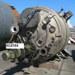 15,550 Litre, 7 Bar/Full Vacuum Internal, 9 Bar Jacket, Stainless Steel Vertical Reactor