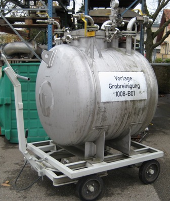1000 Litres Stainless Steel Horizontal Storage Vessel