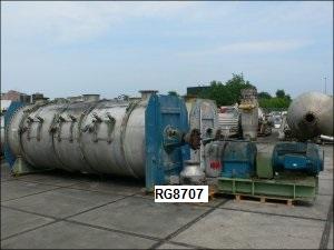 15,000 Litre Lödige Model 15000D/12ZF Stainless Steel Ploughshare Mixer