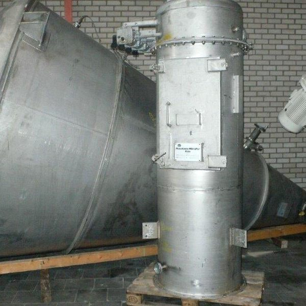 282 Cubic Foot Hosokawa Micron 304 Stainless Steel Conical Mixer