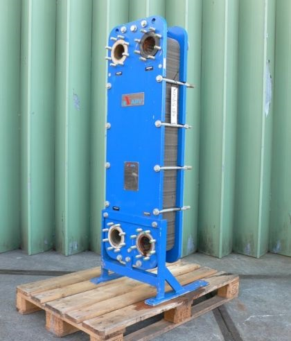16 Sq. M. APV Baker 316 Stainless Steel Plate Heat Exchanger