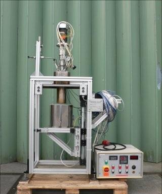 1 Litre, 200 Bar Internal Haage Apparatebau GMBH Vertical Glass Lined Reactor