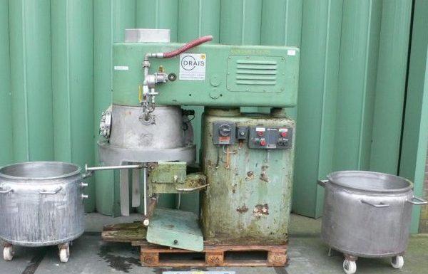 44 Gallon 7 HP Draiswerke Stainless Steel Vacuum Planetary Mixer