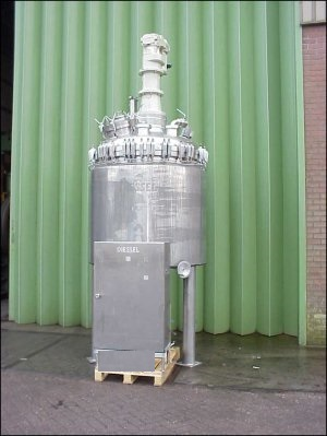 2150 Litre, 6 Bar Internal, 6 Bar Jacket, Stainless Steel Reactor