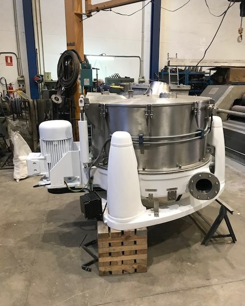 40″ X 20″ Comi Condor 316L stainless steel perforted basket centrifuge