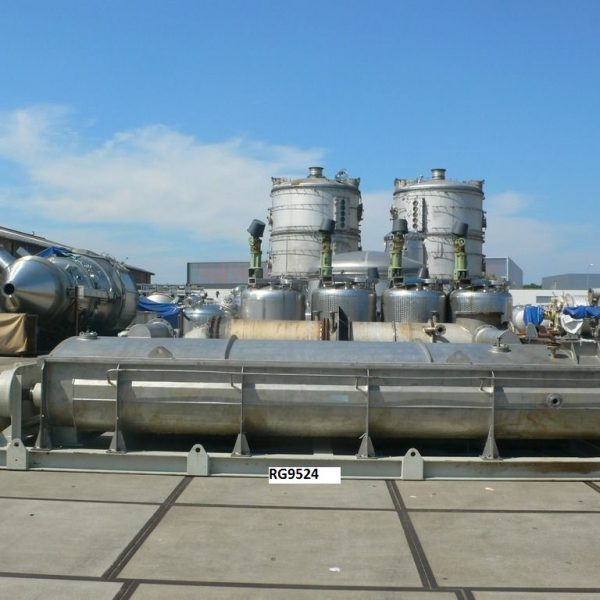 Kollemann Adenau Type AJK-QTHSF-DN600 Schneckenwarmetauscher 304 Stainless Steel Continuous Torus Disc Dryer