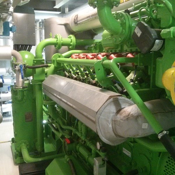 637 kW GE Jenbacher JMS 312 CHP Generator Set