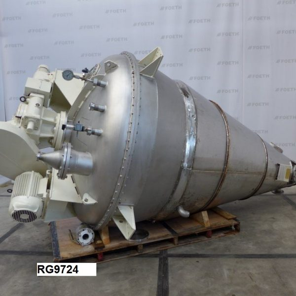 2,000 Litre Hosokawa MBXU-20 RVW Stainless Steel Conical Mixer Dryer