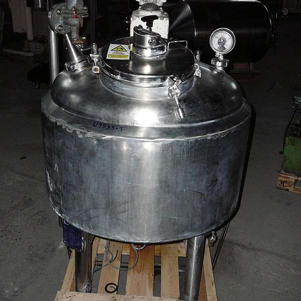 170 Litre, 1.5 Bar Internal, 3 Bar Jacket 316 Stainless Steel Reactor