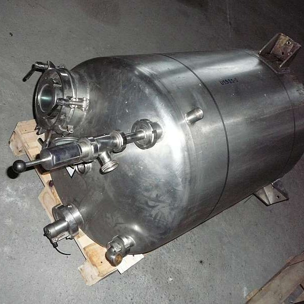 500 Liters Stainless Steel Vertical Storage Tank 720mm Dia x 1650mm High