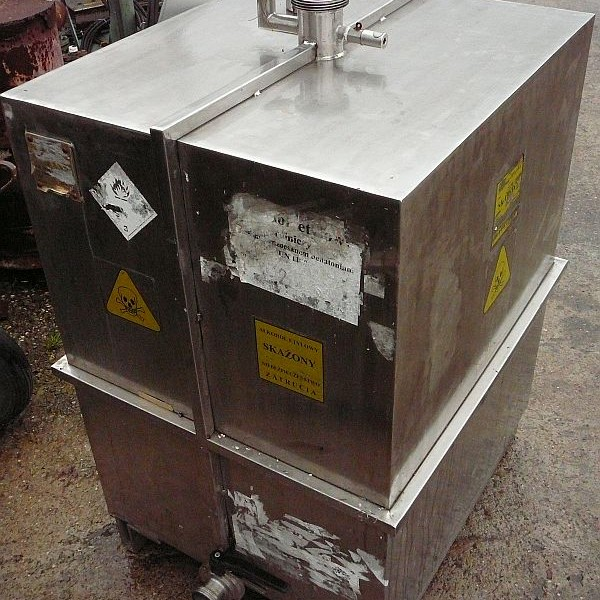 500 Litre Stainless Steel Rectangular Storage Tank