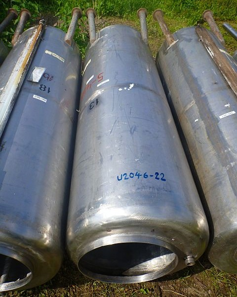 500 Liters Stainless Steel Vertical Storage Tank 600mm Dia x 1800mm H