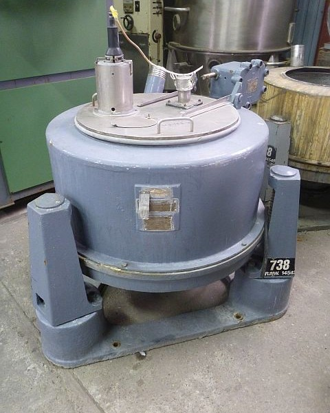 33″ X 15″ Sangerhausen Stainless Steel Perforated Basket Centrifuge