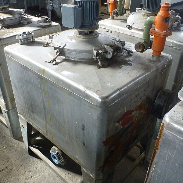450 Litre Stainless Steel Rectangular Mixing Tank