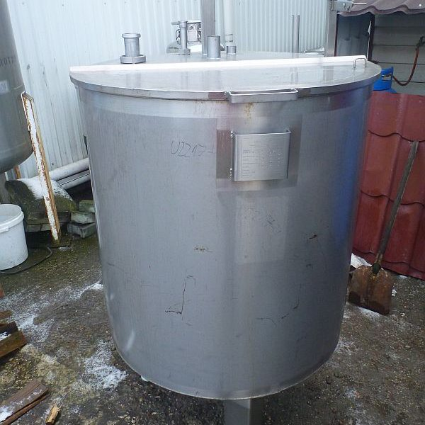 700 Liters Stainless Steel Vertical Storage Tank 945mm Dia x 1000mm Straight Side