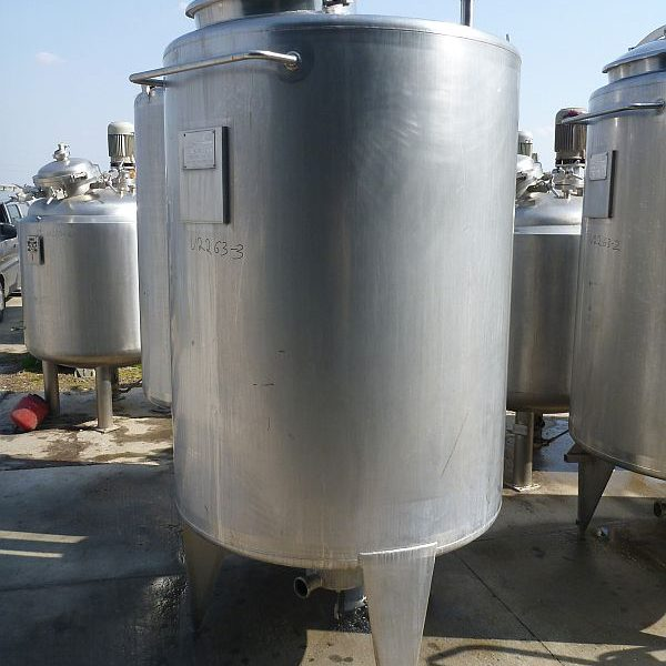1500 Liter Stainless Steel Storage Tank, 1180mm Dia. X 1520mm Deep