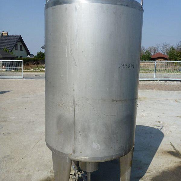 1500 Liter Stainless Steel Storage Tank, 1100mm Dia. X 1560mm Deep