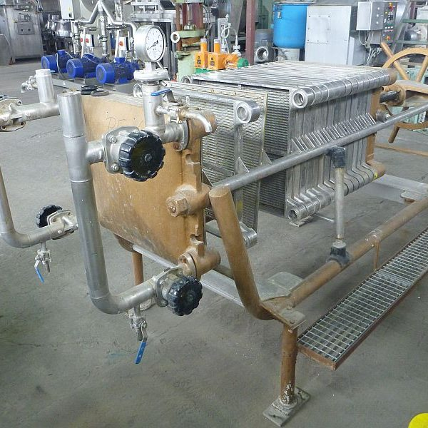 9.9 m2 Stainless Steel Contact Parts Filter Press Carlson Plate And Frame
