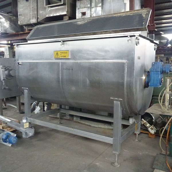 4,000 Liter Zacmi Horizontal Stainless Steel Jacketed Mixer/Cooker