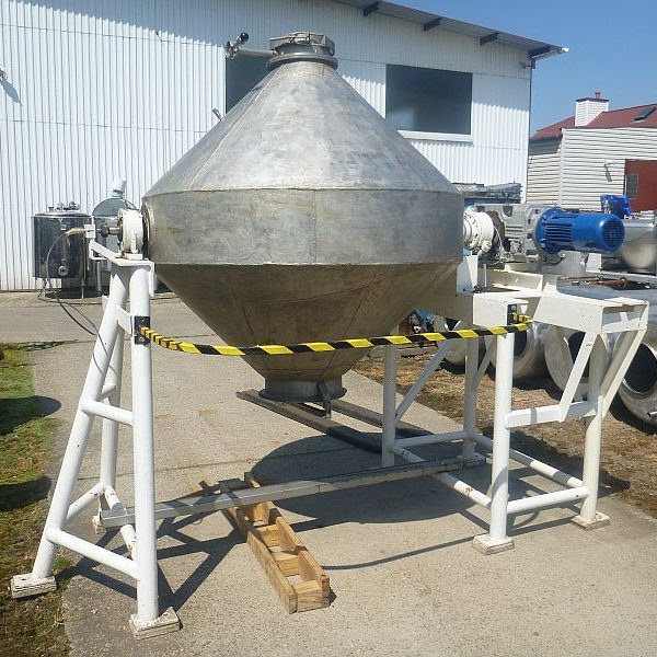 56 Cubic Foot Stainless Steel Double Cone Blender Chamber