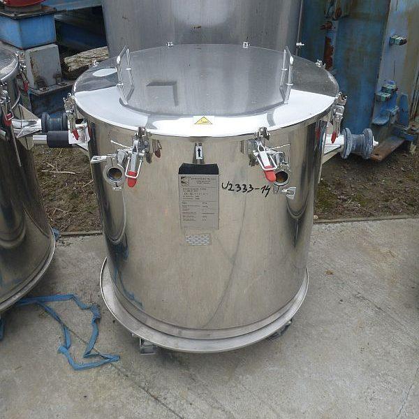 350 L Stainless Steel Vertical Transport Pan Tilt Discharge