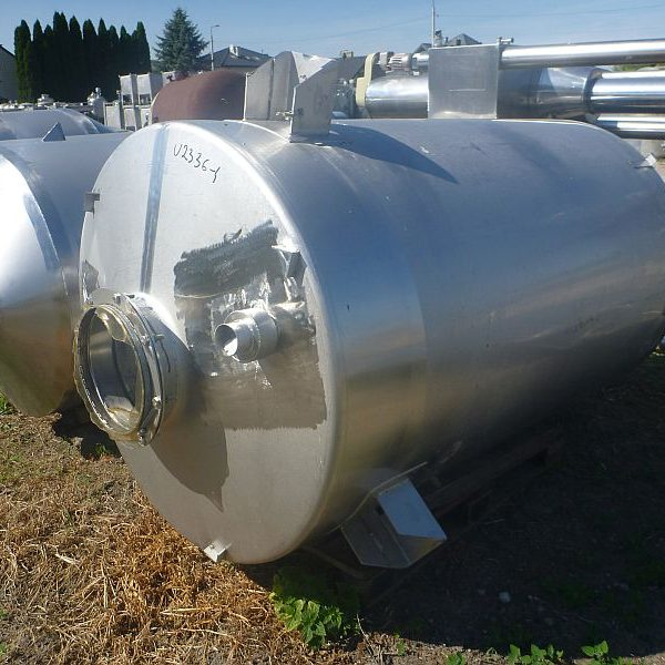 1800 L Vertical Stainless Steel Silos For Powders With Conical Bottom