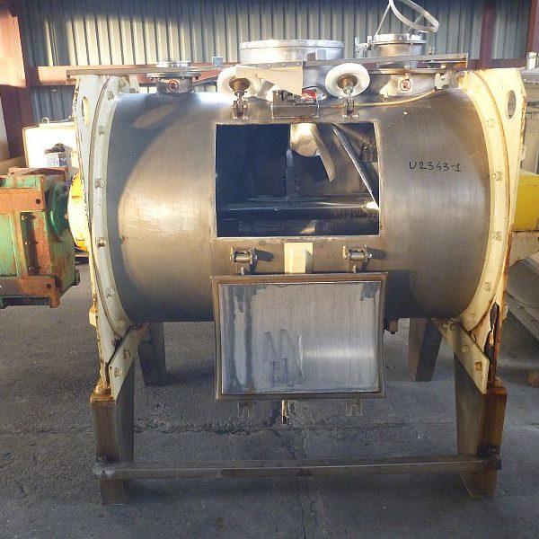 750 Liter Govoni Sim Bianca Stainless Steel Horizontal Ploughshare Mixer
