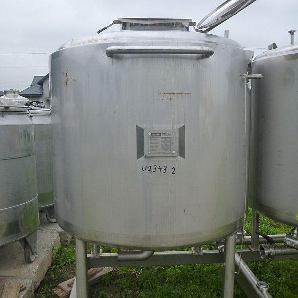 1600 L Vertical Stainless Steel Storage Tank