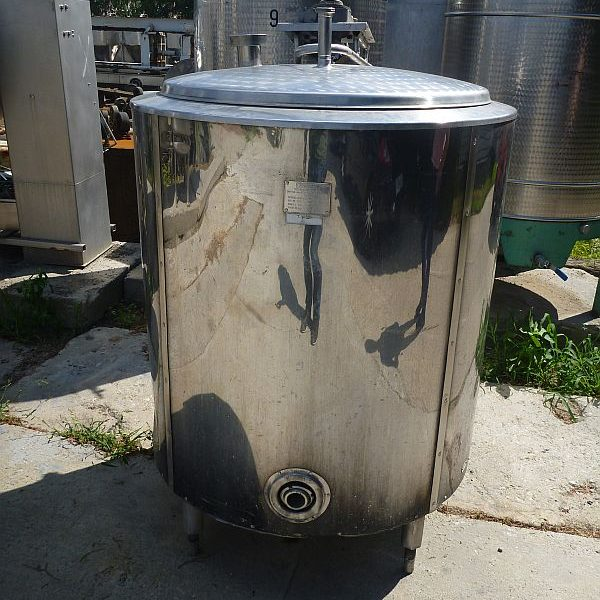 630 Liter Stainless Steel Jacketed Vertical Mixing Tank 920mm Dia x 950mm High