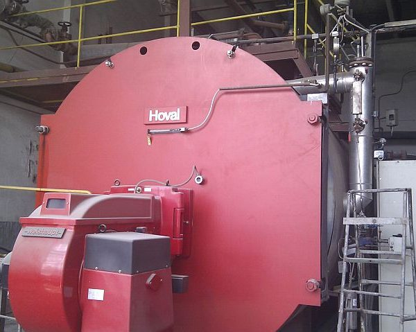 22,000#/Hour 261 PSI Hoval Steam Boiler