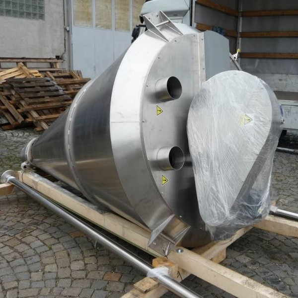 1,000 Litre Perrymix Model HV 1000 Stainless Steel 316L Conical Nauta Mixer, New