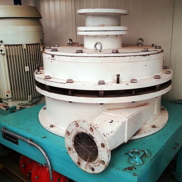 Second hand vertical gap mill by Bauermeister type GM 80.1 EX 75 kW ATEX