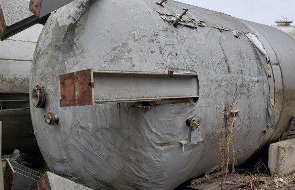 12,000 Gallon 316L Stainless Steel Mix Tank, 50 psi Internal