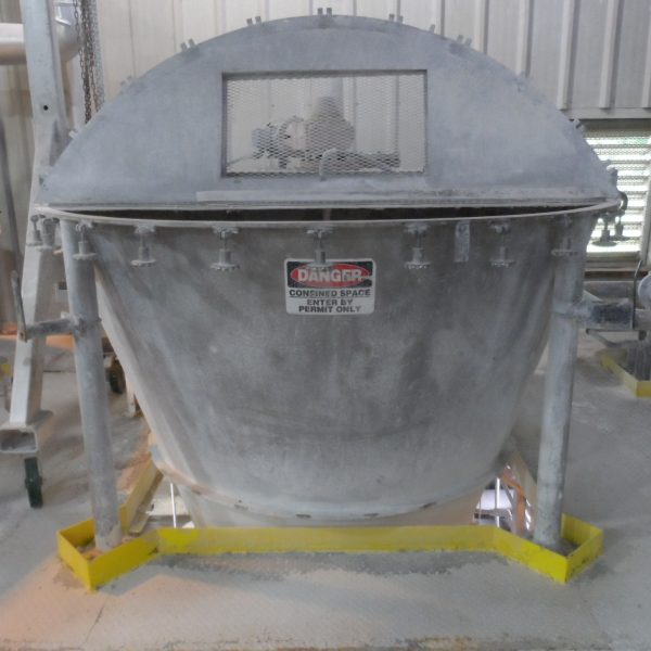 Day Stainless Steel Nauta Mixer Converted to Conical Mix Tank