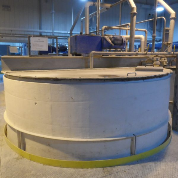 7,700 Gallon Stainless Steel Tank, 10'6″ Dia. X 12′ Straight Side