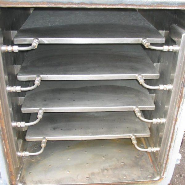 24 Sq. Foot, 4 Shelves Stokes 316 Stainless Steel Vacuum Shelf Dryer