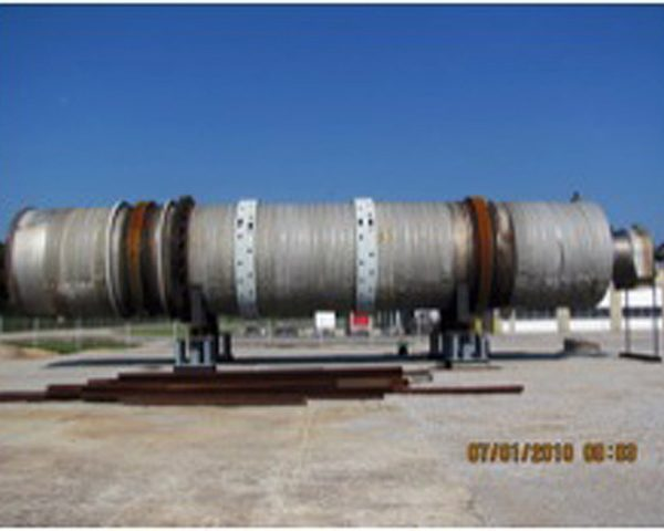 12′ X 65′ Davenport 316 Stainless Steel Rotary Steam Tube Dryer