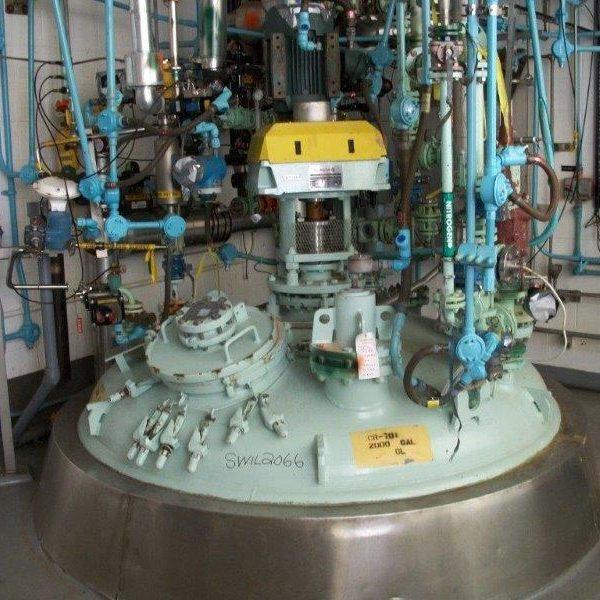 2,500 Gallon 40 FV Internal, 40 Jacket Dedietrich Glass Lined Reactor