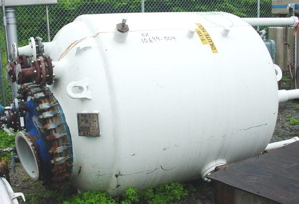 750 Gallon 100 FV Internal, 90 Jacket Dedietrich Glass Lined Reactor Body