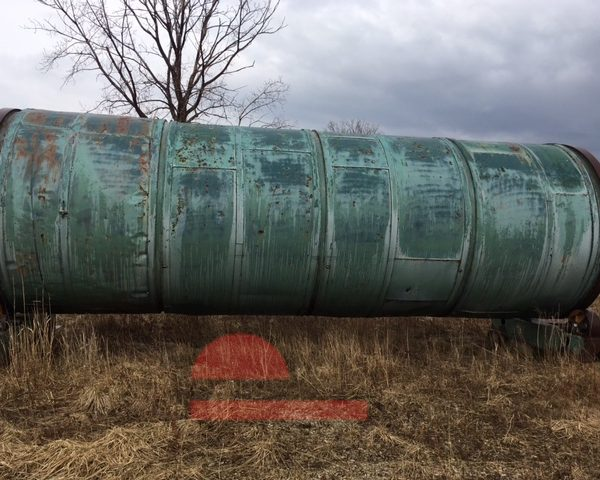 96″ x 24′ Heil Mdl 8X24-1 Single Pass Rotary Drum Dryer
