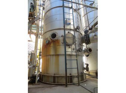 90″ X 55′ Sulzer, 15 psi, 304 Stainless Steel Distillation Column