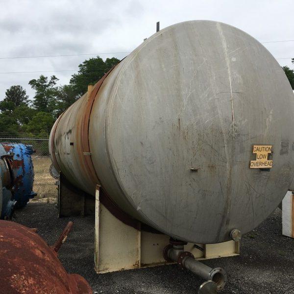14,000 Gallon 304 Stainless Steel Horizontal Storage Tank