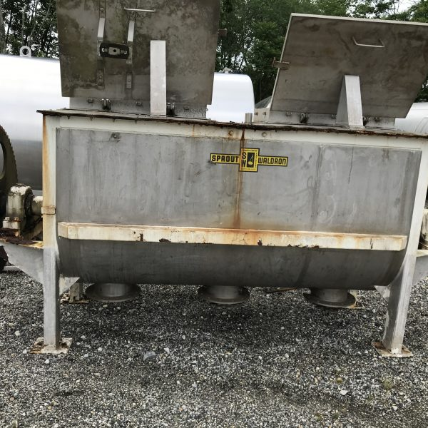 90 Cubic Foot Sprout Waldron Stainless Steel Double Ribbon Blender